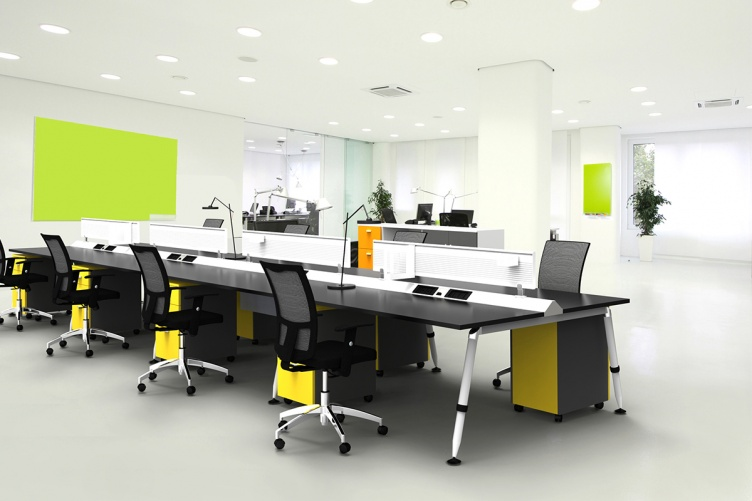 Flux modular system furniture for Design office environment