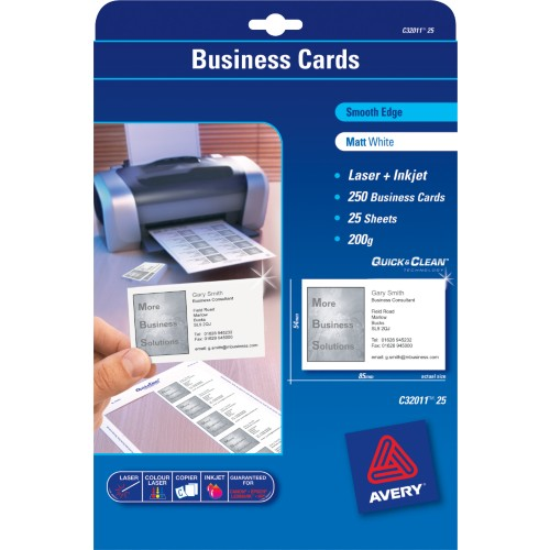 avery u00ae smooth edge quick  u0026 clean u2122 business cards