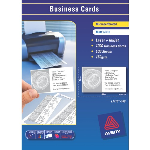 AVERY Smooth Edge Quick & Clean™ Business Cards