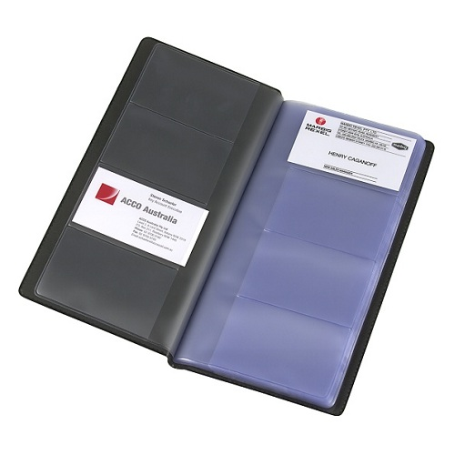 Business card books binders wallets slimline business card book fits easily into your briefcase or bag so your contacts are always at hand reheart Choice Image