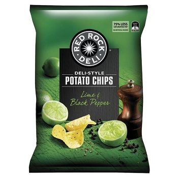 Red Rock Deli-Style Potato Chips Lime & Black Pepper 185g