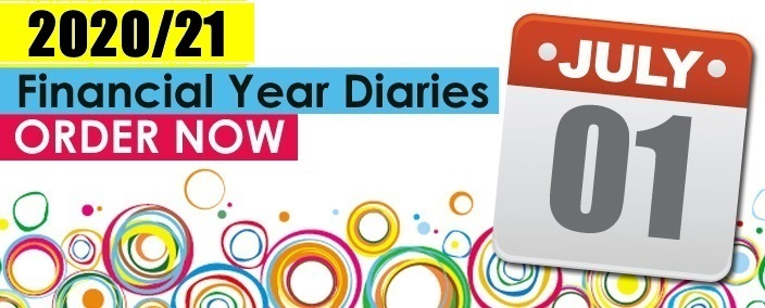 """""""Order your 2020-21 Financial Year Diaries now"""